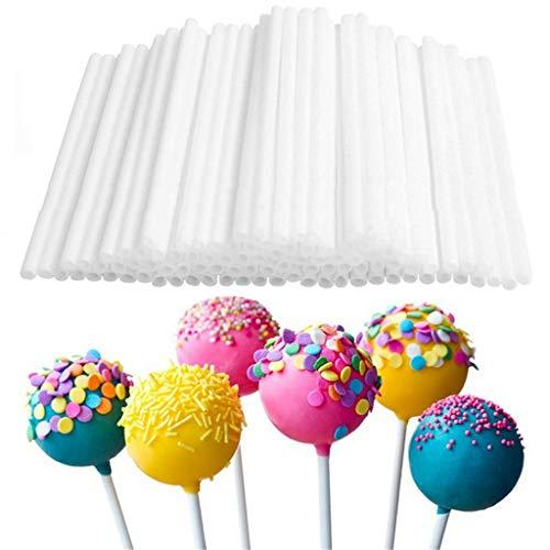 Keukenapparaten en gadgets 80 stuks set lange pop Lollipop-stick voor chocolade suiker pol wit 10 cm handvat rod cakedeeggereedschap bak, wit