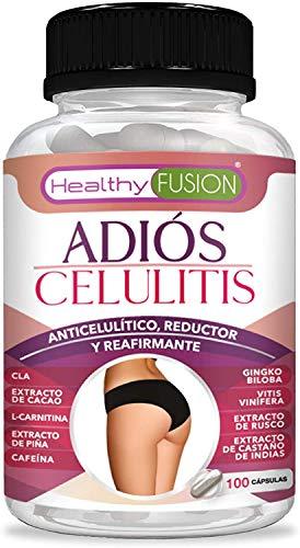 Potente anticelulítico y reductor intensivo | Cápsulas anticelulitis | Elimina la piel de naranja de forma eficaz | Fórmula completa de rápida actuación con CLA, l-carnitina y cafeina | 100 cápsulas