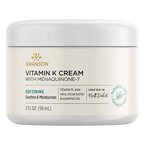 Swanson Vitamin K Cream with Menaquinone-7 2 fl Ounce (59 ml) Cream
