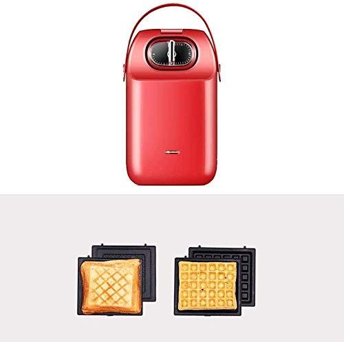 ChangHua1 Tostadora de sándwich tostadora tostadora con sándwich máquina de desayuno, máquina de pan multifunción, prensa de tostadas, peng