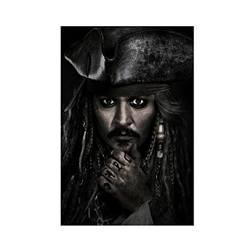 Póster clásico de la película Piratas del Caribe Muerto Hombres Tell No Tales 5 Lienzo decorativo para pared, cuadro para sala de estar, dormitorio, decoración Unframe: 40 x 60 cm