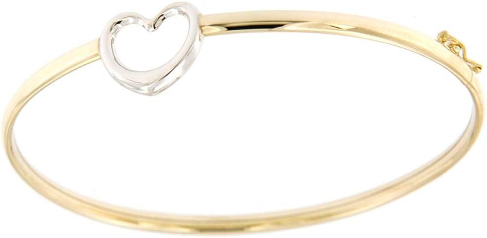 Lucchetta gioielli  bracciale d`oro rigido per donna modelli bangle in bianco e giallo 2B0717MLA