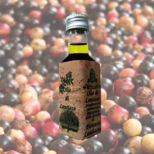 3 x 20 ml - Olio di lentischio sardo prodotto tramite una selezione molto attenta delle bacche di lentischio. Pianta principe della macchia mediterranea sarda.