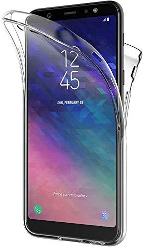 PHONE CONVERSE Funda Samsung Galaxy A6 Silicona Transparente Ultra Slim Doble Cara Carcasa 360 Resistente Anti-Arañazos para Samsung Galaxy A6