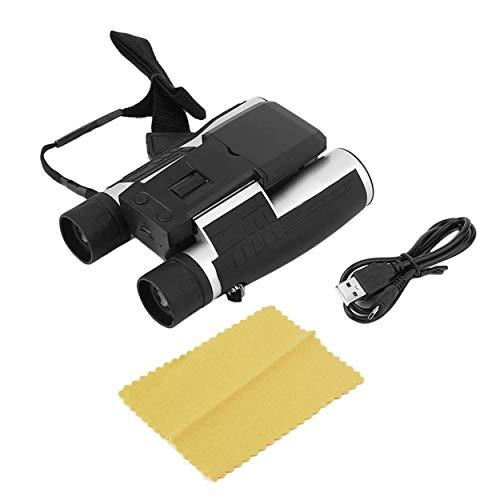 Relabouting - Cámara Digital Full HD 1080P LCD de 2,0 Pulgadas Binocular Negro 12 x 32 HD Telescopio Plegable con cámara Digital integrada