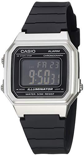 Casio W-217HM-7BVCF Reloj Casio W-217HM-7BVCF Plata for Unisex Adulto, Negro, Unisex