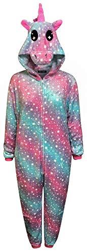 Live It Style It Einhorn Onesie Frauen Bequeme Pyjamas Mens Soft-Sleepsuit Geschenke für Damen Tier Erwachsene Overall verkleiden Kostüm