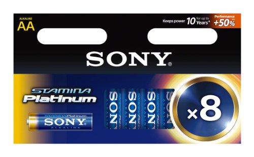 Sony 8 Piles Alcalines Haute Performance LR6/AA