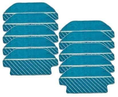 Cepillo de filtro para fregona, almohadillas de tela para aspiradora Cecotec Conga 3290 3490 3690, piezas de repuesto para cepillo lateral, kit de repuesto para aspiradora (color: 10 unidades)