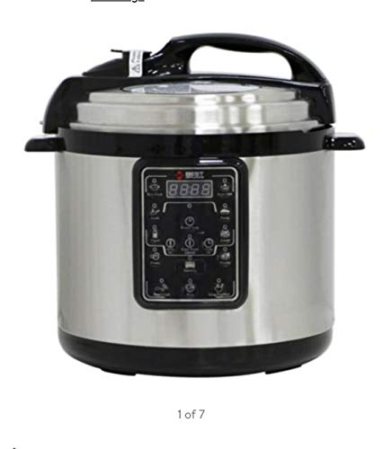 BEST APPLIANCE Multifunction 6.3QT Electric Pressure Cooker Stainless Steel Programmable 0P