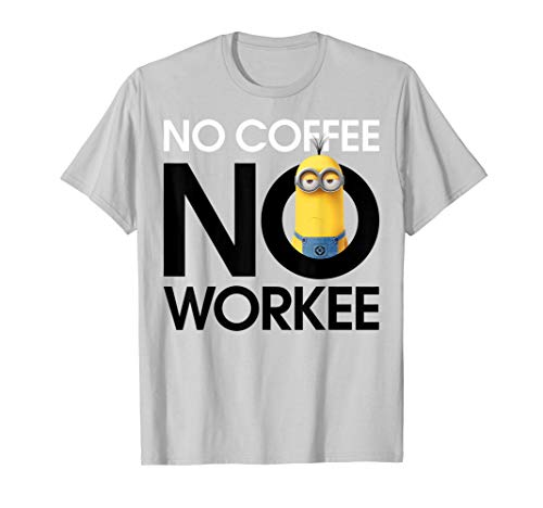 Despicable Me Minions No Coffee No Workee Portrait T-Shirt
