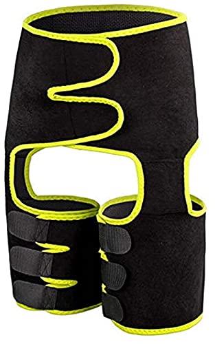 ZXC Levantador de glúteos de quema de grasa potente adelgazante de la pierna Shaper cintura Booty Trainer pérdida de peso cinturón adelgazante, 01-AMARILLO - S-M