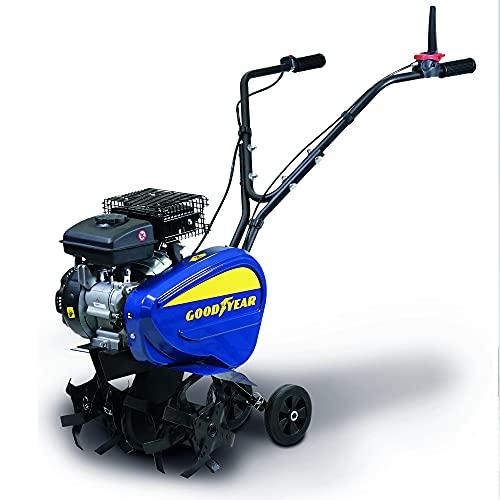 Goodyear Motoazada gasolina 98,5 cm3. Ancho de trabajo 21-34 - 42 cm. 24 cuchillas Profundidad de trabajo 10-20 cm.
