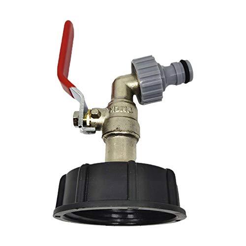 IBC - Grifo de desagüe IBC adaptador de depósito IBC para depósito de agua de calidad alimentaria de 1/2 pulgadas
