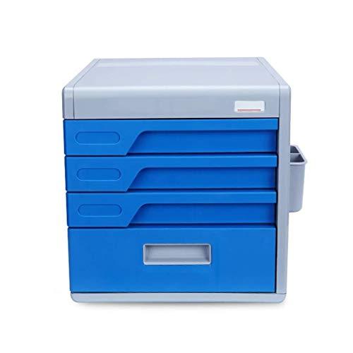 Archivador plano La clave de bloqueo de escritorio archivo contenedor de cuatro capas Oficina dispositivo de almacenamiento Caja de almacenamiento de cajón Confidencialidad Oficina Cajón Organizador (