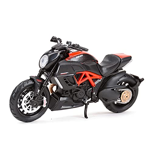 El Maquetas Coche Motocross Fantastico 1:18 para Ducati-Monster S4 Modelo De Motocicleta De Fundición A Presión Juguete Regalo Educativo para Niños Adultos Expresión De Amor (Color : 3)