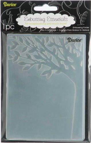 Darice Prägeschablone, 10,8 x 14,6 cm Baumstamm mit Blättern, Plastik, transparent, 10,8 x 14,6 x 0,4 cm