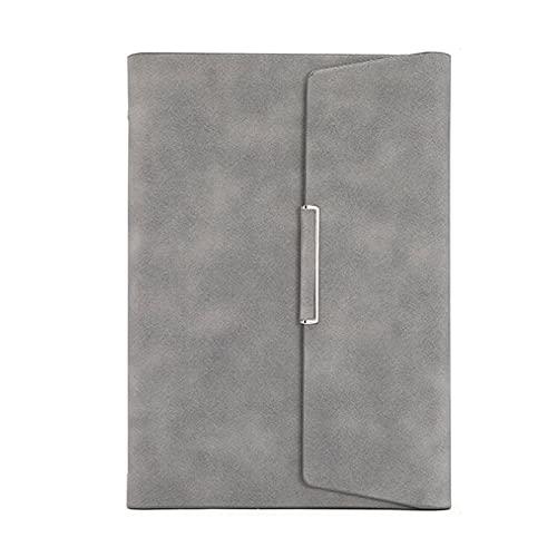 FACHAI Cuaderno A5, cuaderno de tres pliegues, tapa dura de cuero con ranura para tarjetas, extra grueso con 160 páginas, almohadilla de escritura a rayas, 6.88 x 9.25 pulgadas