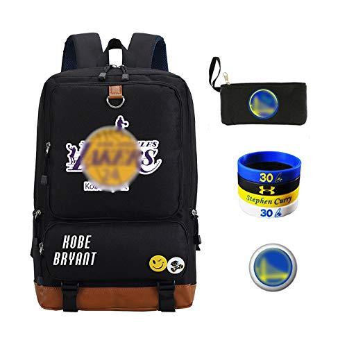 WNN -URG - Mochila de alta capacidad de la NBA jugador de baloncesto Star School mochila de viaje estudiante mochila de abanicos resistente al agua niño niña niños URG
