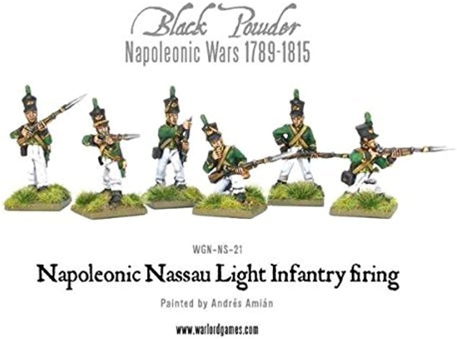 Napoleonic Nassau Light Infantry firing
