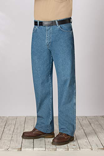 Bulwark Men's Flame-Resistant Relaxed-Fit Stone-Washed Jean, Stone-wash, 30W x 34L