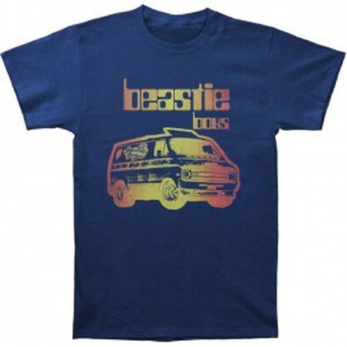 ill Rock Merch Beastie Boys - Van Art T-Shirt (Small, Blue)