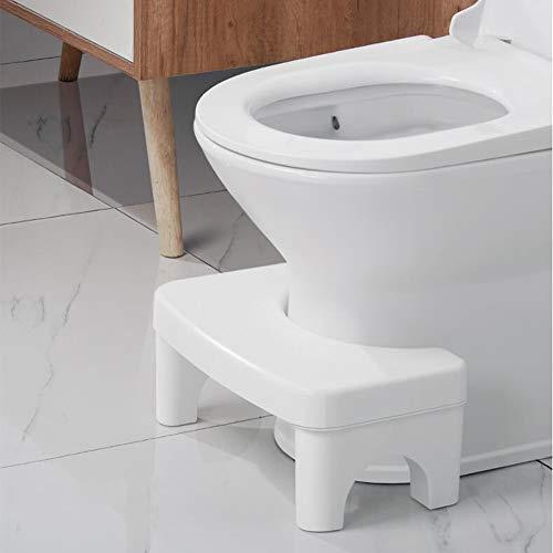 MZBZYU Sgabello WC Lo Sgabello Servizi Igienici Potty Accovacciata Sgabello da Bagno Accovacciato, Sgabello per WC Squatty Contro Emorroidi, Stitichezza, Colon Irritabile, Flatulenza