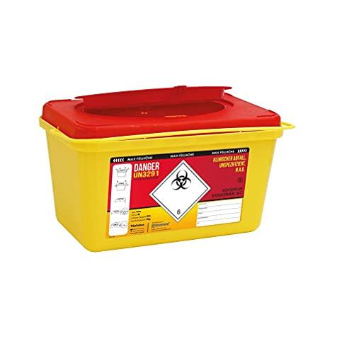 Kanülenabwurfbehälter ratiomed 193522 Safe-Box von carmesin.com 4,0 Ltr.