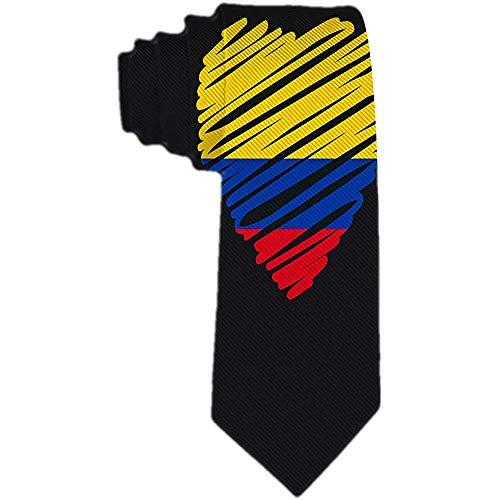 Herren Krawatte Kolumbianische Flagge Polyester Seidenkrawatte