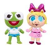Disney Junior Music Lullabies 8-Inch Kermit & Piggy 2-Piece Plush Set, Baby Toys 18 Months Up, Amazon Exclusive, by Just Play