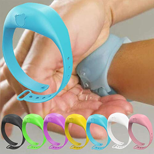 MJEDC Desinfektionsarmband Hygiene Desinfektions Armband für Desinfektionsmittel Hände, Spender Desinfektionsmittel Hände für unterwegs inkl. (7 Stück)