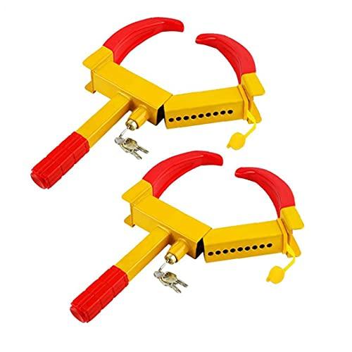 YepYes Portable Heavy Duty Blocage de Roue antivol pneu de camion/Sécurité Clamp Roue de secours Parking Serrure Compatible Avec Voitures Trailers RV VTT Pneus Auto/Voiture de serrage de Roue