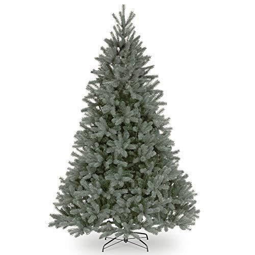 artplants.de Künstliche Douglasie Bern Speed, blau, 210cm, Ø 140cm - Kunststoff Weihnachtsbaum
