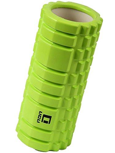 フォームローラー 筋膜リリース トリガーポイント グリッド ミニ ストレッチローラー LICLI 「 マッサージ トレーニング ストレッチ ローラー ハーフ ヨガポール 」「 肩こり 腰痛 」 説明書つき 7色 (グリーン)