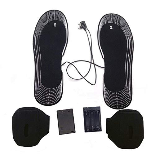 DYWOZDP Beheizbare Einlegesohle, wiederaufladbare Beheizte Schuhe Einlagen, Batterie Männer Powered für Männer und Frauen-Winter-Jagdstiefel-Schuh-Turnschuh-EIS-Fischen Wandern Camping