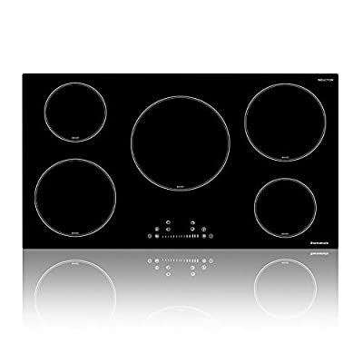 Electric Cooktop, thermomate Pro Series 36 Inch Built-in Induction Stove Top, 240V Electric Smoothtop with 5 Boost Burner, 9 Heating Level, Child Lock & Keep Warm Function, ETL & FCC Dual Certified