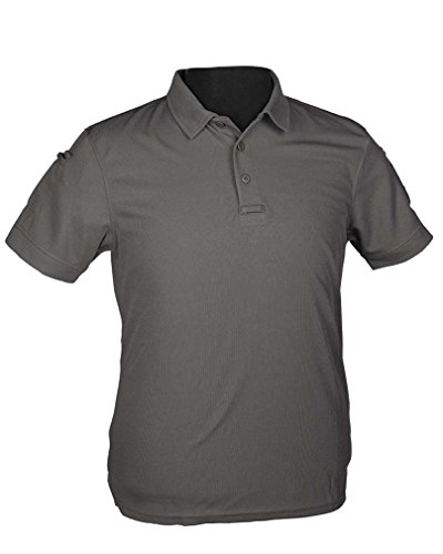 Mil-Tec Tactical Quickdry Polo Olive L Gris urbain