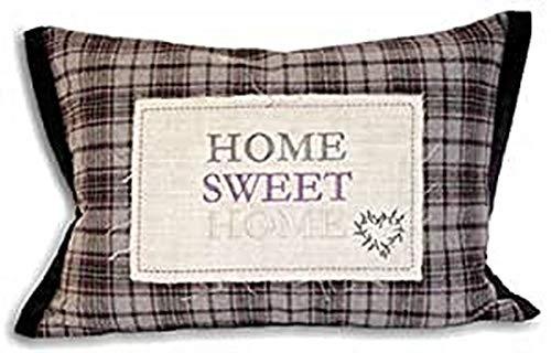 Paoletti Shabby Home Sweet Home Applique Boudoir Housse De Coussin, Prune, 35 X 50 Cm