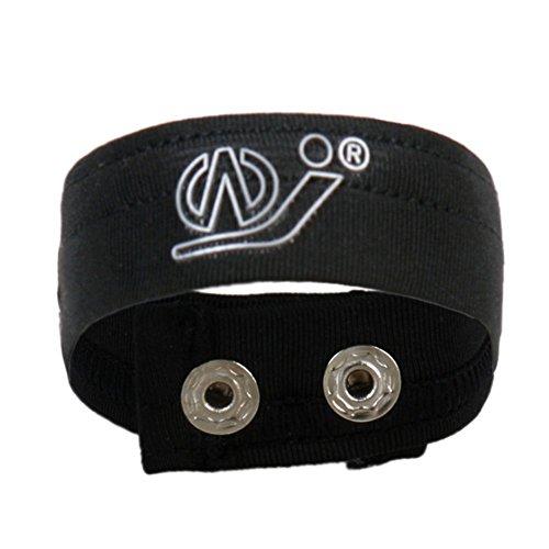 Igeon Men's Ball Lifter Lift Loop C-Strap Mention Bracelet Ring (Black)