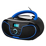 LONPOO Porttil Bluetooth Reproductor de CD Boombox 4W (FM Radio, Reproductor de CD / MP3, USB2.0, AUX-IN, Bluetooth4.0)
