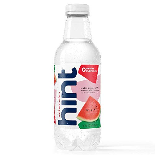 Hint Water Watermelon Bottles 16 Ounce (Pack of 12) Pure Water Infused with Watermelon Zero Sugar Zero Calories Zero Sweeteners Zero Preservatives Zero Artificial Flavors