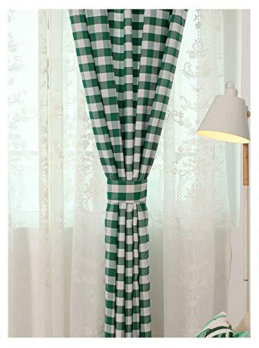 Yaland Home Fashion Dekoschal Karo Vorhang gardinen Modern Kariert Scheibengardine Gingham Vorhänge mit...