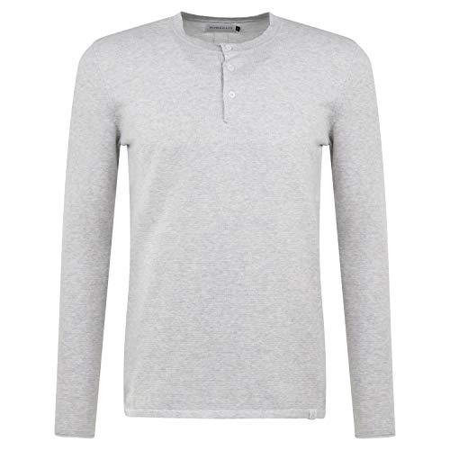 Nowadays Pullover mit Knopfleiste grau (150 Light Grey) M