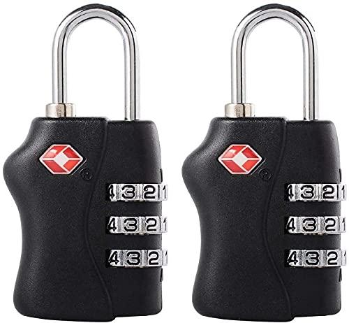 MISINIO 2 Unids TSA Aprobado Locks de Viaje de Equipaje - 3 Dial Combinación de Candado Security para Bolsas Maletas Casilleros Gimnasia Incomparable