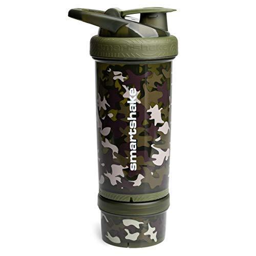 Smartshake Revive Bouteille Sports 750ml - Protéine Shaker, Gourde ou Fruit Infusion (Camouflage Vert)