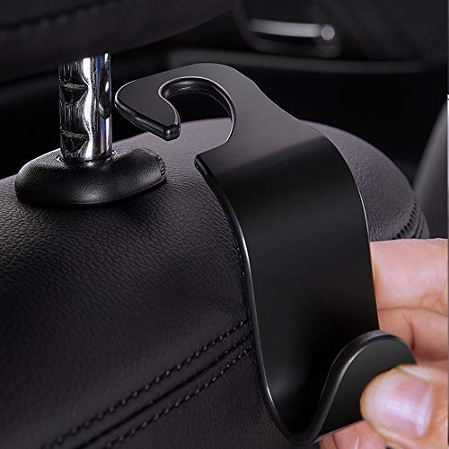 EldHus AB Ofspower 4-Pack Car Vehicle Back Seat Headrest Hook Hanger Storage for Purse Groceries Bag Handbag, 4 Pack