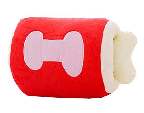 Netter Knochen-Handwärmer Kissen Abnehmbare Handwärmer Kissen,Rot,15.7\'\'