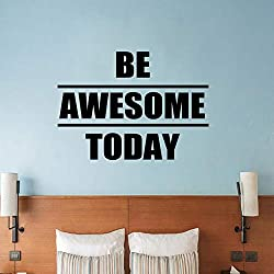Be Awesome Today Inspirational Quote Wall Sticker Transfer Decal Gym Fitness Sports Playroom Vinyl