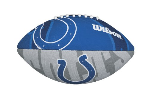 WILSON Football mit dem Logo des NFL Junior Teams, WTF1534IDIN, Indianapolis Colts, Für Kinder