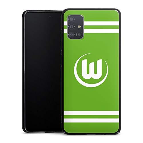 DeinDesign Hülle kompatibel mit Samsung Galaxy A51 Handyhülle Case VFL Wolfsburg Offizielles Lizenzprodukt Wappen